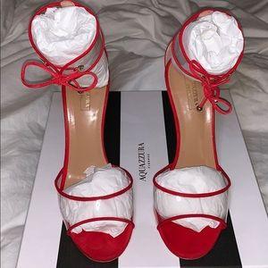 Aquazzura red sandal pvc